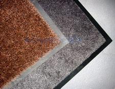 Ковры влаговпитывающие на резиновой основе однотонные